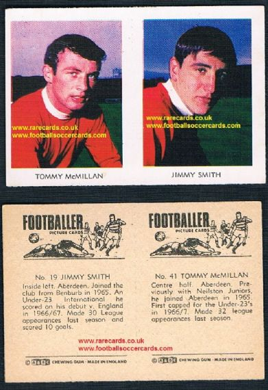 1966 A&BC Scottish pair Aberdeen Tommy McMillan 41 Newcastle United Jimmy Smith 19